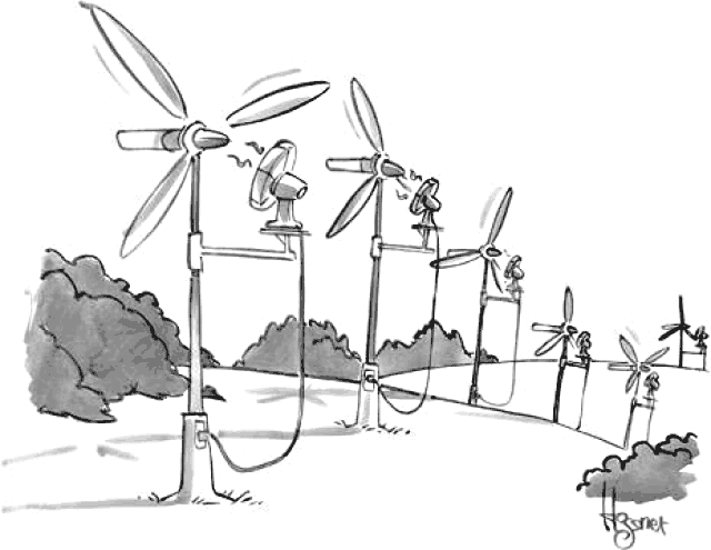 Image result for cartoon of backup to wind power