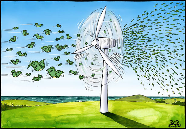 Throwing money at wind power