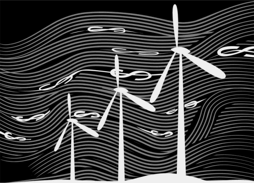 Illustration Wind subsidies by Linas Garsys for The Washington Times