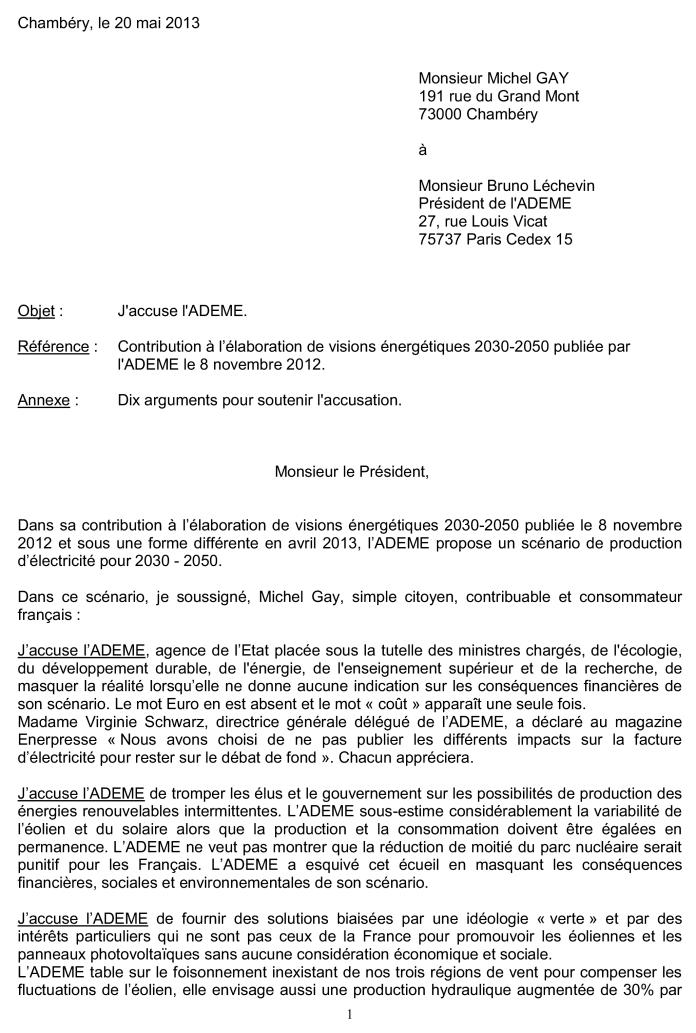 J 39 accuse lettre au pr sident de l 39 ademe epaw - Experte en composants 15 lettres ...