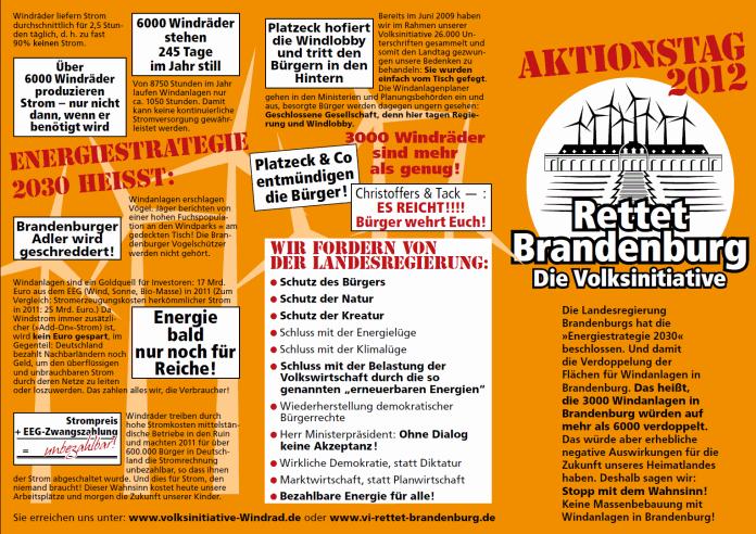 Rettet Brandenburg Die Volksinitiative 5 Mai 2012