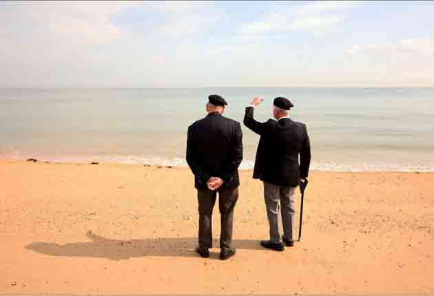 British veterans at Sword Beach